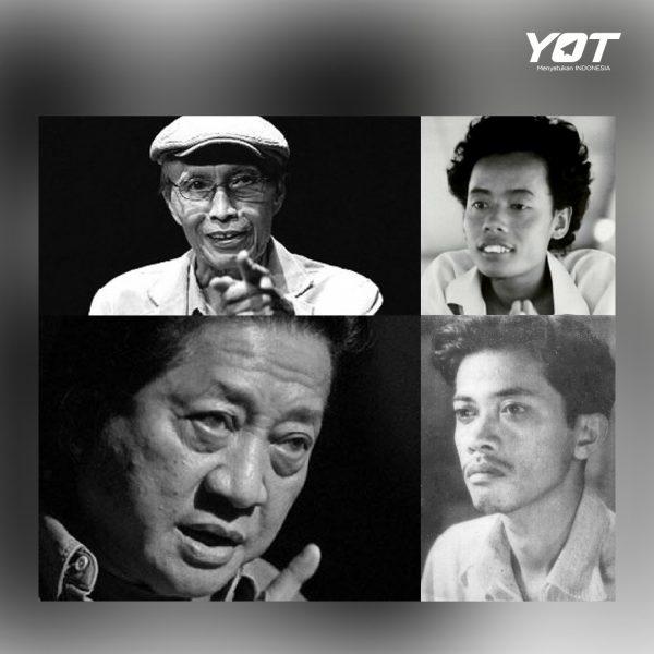 Mengenang 4 Sastrawan Legenda Indonesia dan Karya Abadinya