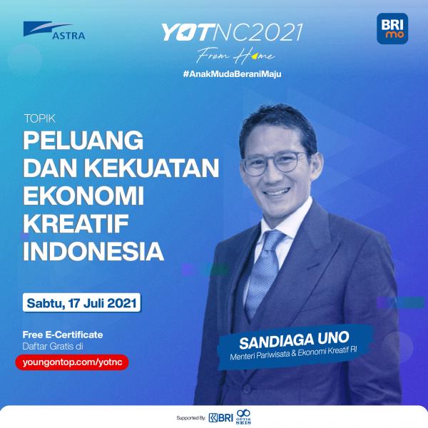 YOTNC Speakers Sandiaga Uno
